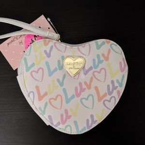 Betsey Johnson Bags - Luv Betsey Heart Shaped White Coin Purse